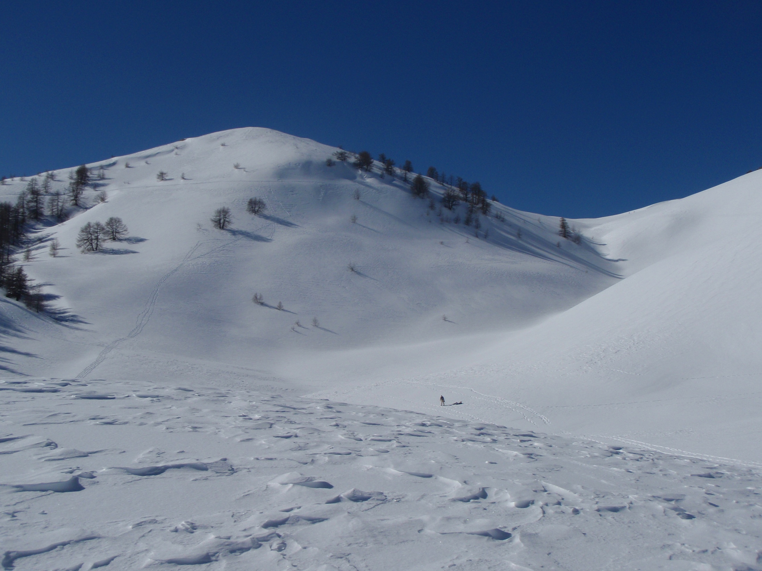 Raquette à neige dans le Mercantour